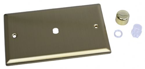 Varilight WYD1.BB Urban Brushed Brass 1 Gang Dimmer Plate Only + Knobs (Twin Plate)